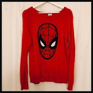 MARVEL COMICS Spiderman sweater Size L